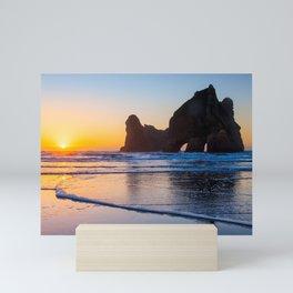 Wharariki Beach, New Zealand Mini Art Print