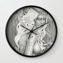 Virgo Full Moon Wall Clock