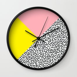 Memphis pattern 28 Wall Clock