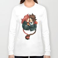 bucky Long Sleeve T-shirts featuring bucky & natasha by cynamon