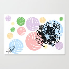Rainbow Yarn Logo (Light Bg) Canvas Print