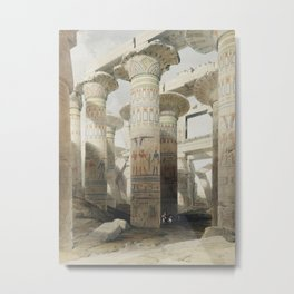 Karnac (Karnak) illustration by David Roberts (1796–1864)cc Metal Print