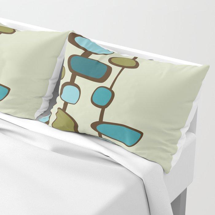 Mid Century Modern Baubles (teal) Pillow Sham
