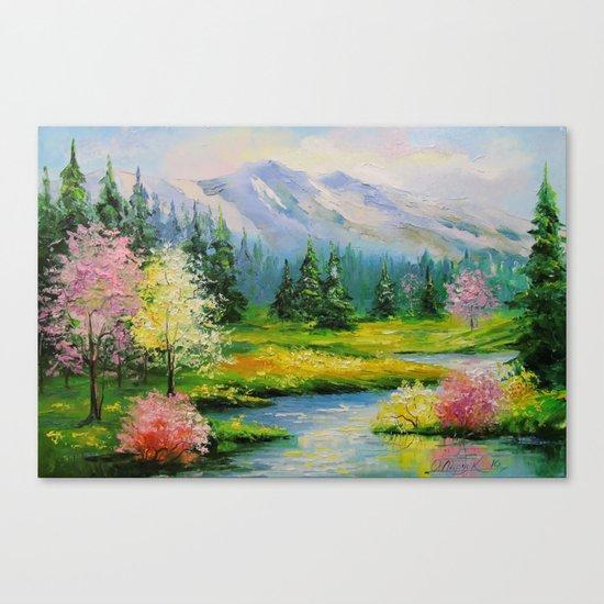 Spring brook Canvas Print