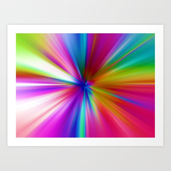 Rainbow Zoom Art Print