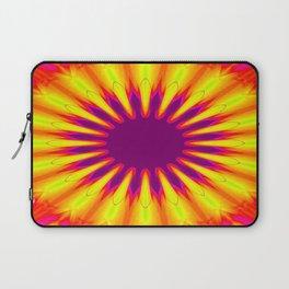 Sunrise Color Burst Flower Laptop Sleeve