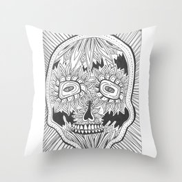 dia de los meurtos Throw Pillow