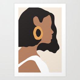 Minimal Woman Painting Art Print