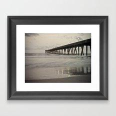 Clouds at Dusk Johnny Mercer's Pier Wrightsville Beach, NC Framed Art Print