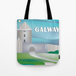 Galway, Ireland - Skyline Illustration by Loose Petals Tote Bag