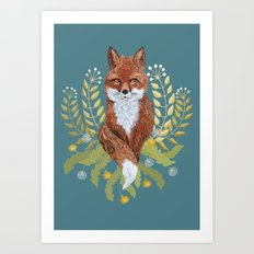 Fox Brown Art Print