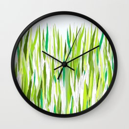 The Grass Is Greener Where You Water It Wall Clock