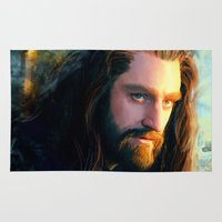 thorin Area & Throw Rugs featuring Thorin OakenShield by Alba Palacio