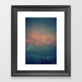 On The Cusp Framed Art Print