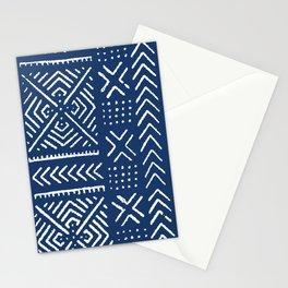 Line Mud Cloth // Dark Blue Stationery Cards