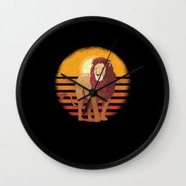 Lion T-shirt Wall Clock