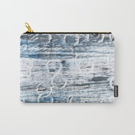 Columbia Blue abstract watercolor Carry-All Pouch