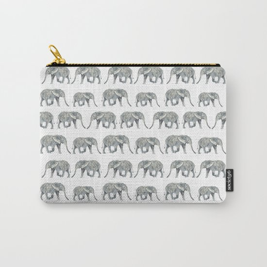 Elephant nature safari tropical painting watercolor nature pattern  Carry-All Pouch