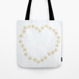 Daisy chains and daisy hearts Tote Bag