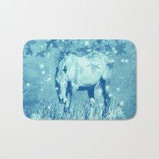 Horse and faerie lights Bath Mat