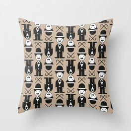 Charlie Chaplin Pattern Throw Pillow