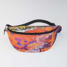 Vibrant Marble Texture no6 - Red Sunset over the Sea Fanny Pack