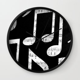 Music notes 2 Wall Clock