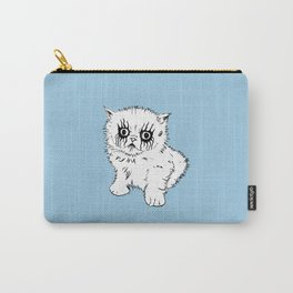 Black Metal Kitty Carry-All Pouch