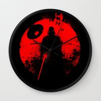 star lord Wall Clocks featuring Death Star Dark Lord by leea1968