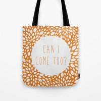 tote bag Tote Bags featuring Can I Come Too? Tote Bag by sreysa'art