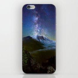 Milky Way Over Mount Rainier iPhone Skin