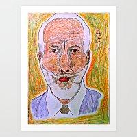 Old man Potrait Art Art Print