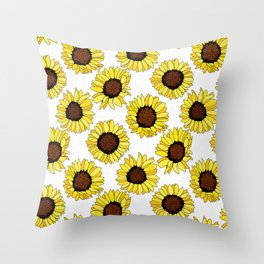 Sunflowers are the New Roses! - White Throw Pillow