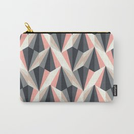 Abstract Pattern - Coral & Grey Carry-All Pouch