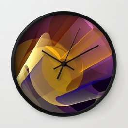 Modern colourful abstract with optical effects Wall Clock