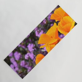Poppies And Purple Lantana Yoga Mat