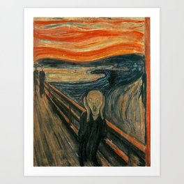 THE SCREAM - EDVARD MUNCH Art Print