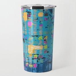 African Teal Blue Graphic Travel Mug