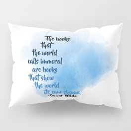 Immoral Books | Oscar Wilde Pillow Sham