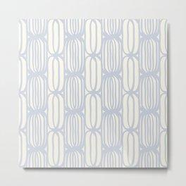 Blue weave Metal Print