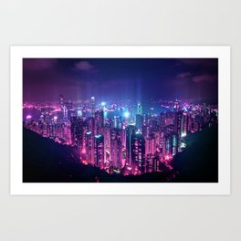 Neo Hong Kong Art Print