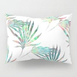 Palmetto Fronds Tropical Multicolor Pattern Pillow Sham
