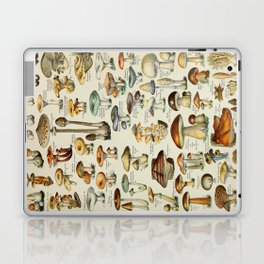 Mushrooms Vintage Scientific Illustration French Language Encyclopedia Lithographs Educational Laptop & iPad Skin