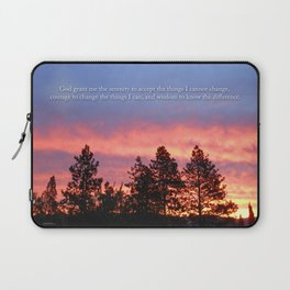 Serenity  Prayer Sunrise Blue Orange Laptop Sleeve