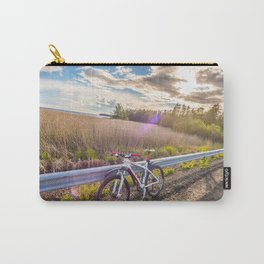 Mountain Bike in the Sun Carry-All Pouch