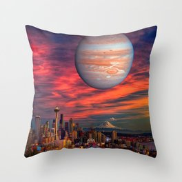 Spacenoodle Throw Pillow