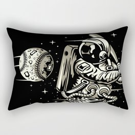 Space Baseball Astronaut Rectangular Pillow