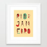 rio de janeiro Framed Art Prints featuring Rio de Janeiro by Bea R Vaquero