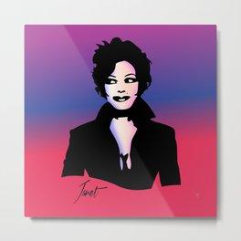 Janet Jackson - Janet - Pop Art Metal Print
