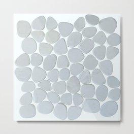 Marble Pebbles Metal Print